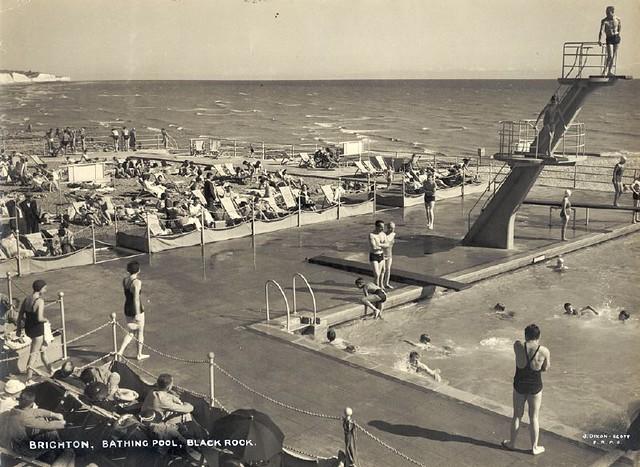 Black Rock Swimming Pool B W Photographic Print Of Black R Flickr