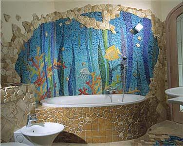 Aquarium Mosaic In Bathroom Colored Smalti 2001 Flickr