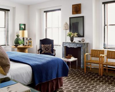 blue brown bedroom nate berkus 39 s chicago space feature