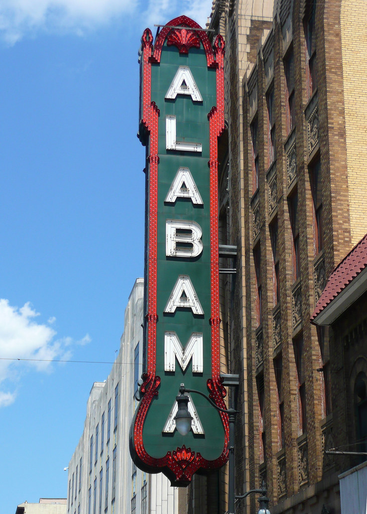 Alabama Theater Birmingham al Alabama Theater Sign