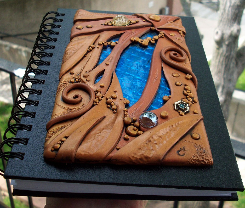 Clay And Glass Journal Cover This Is My First Try With