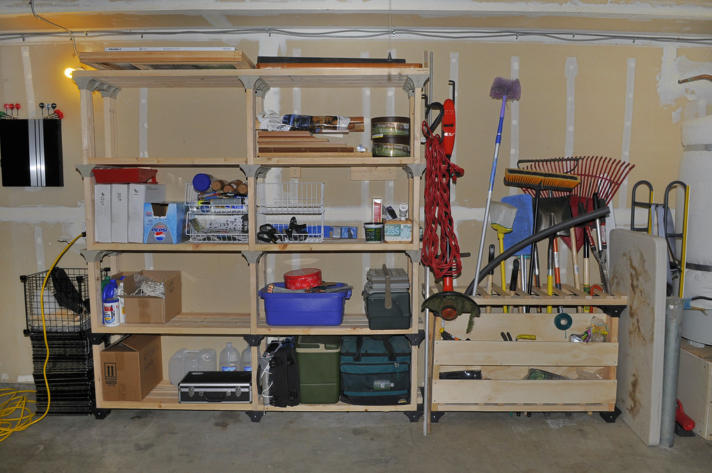 http www.askthebuilder.com how-to-garage-shelving-ideas - Big Shelves and Garden tool Rack