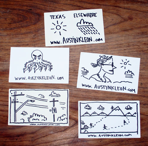 SXSW Business Cards Austin Kleon