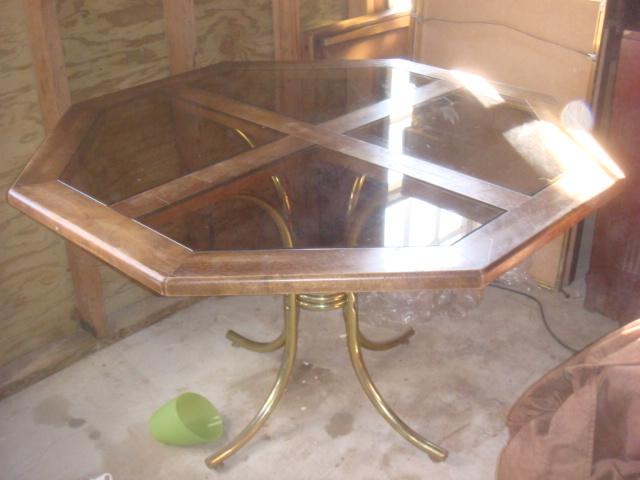 Captivating Octagonal Glass Top Dining Table   $90   Bunsaloo   Flickr