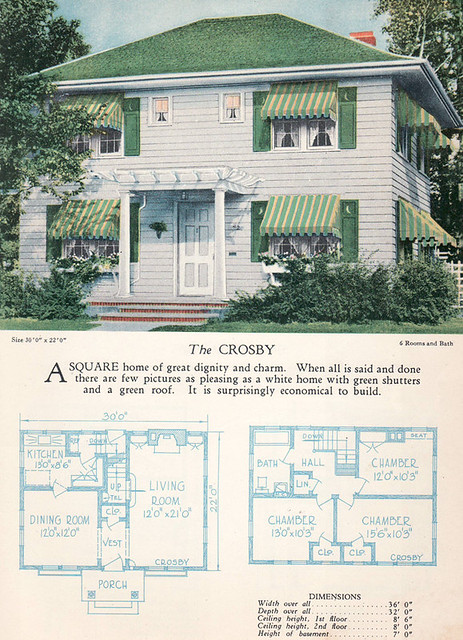 1928 Home Builders Catalog The Crosby