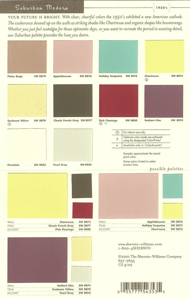 sherwin williams color preservation palettes retro 1950 39 s flickr. Black Bedroom Furniture Sets. Home Design Ideas