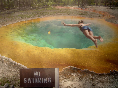 No Swimming Pool : Yellowstone pool no swimming flickr photo sharing