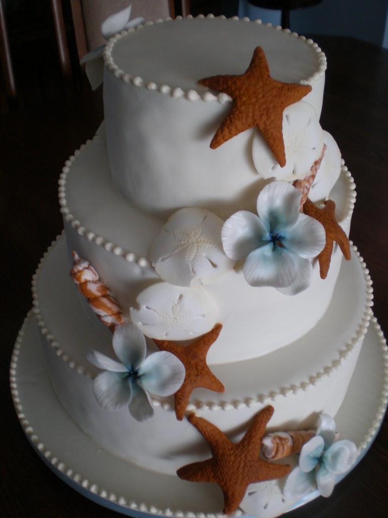 Starfish Wedding Cake Decorations