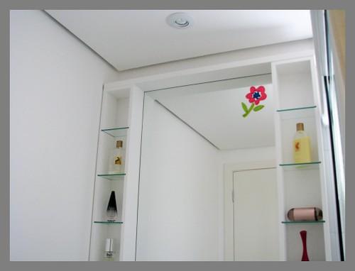 Banheiro Meninas  Detalhe Prateleiras 02  Gabinete em mdf …  Flickr -> Banheiro Decorado Com Prateleiras De Vidro