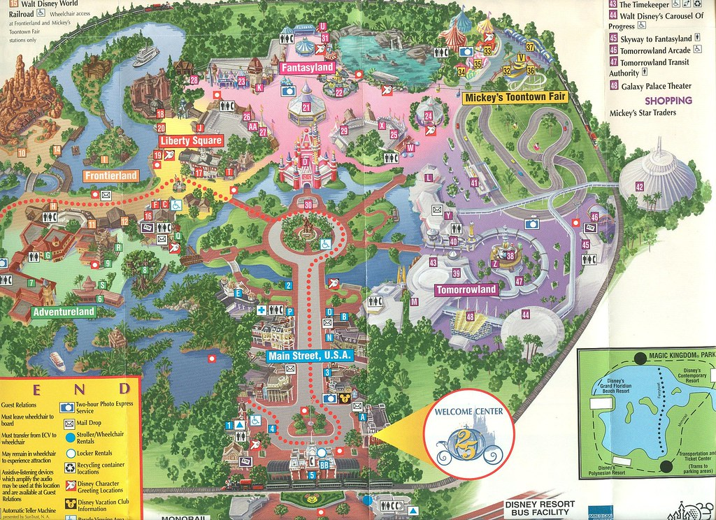 Magic Kingdom WDW 25th Anniversary Map Map from the 25th A Flickr