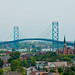 Ambassador Bridge over Southwest Detroit