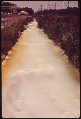 Contaminated Water in Drainage Ditch behind Pittsburg Glass Company | by The U.S. National Archives