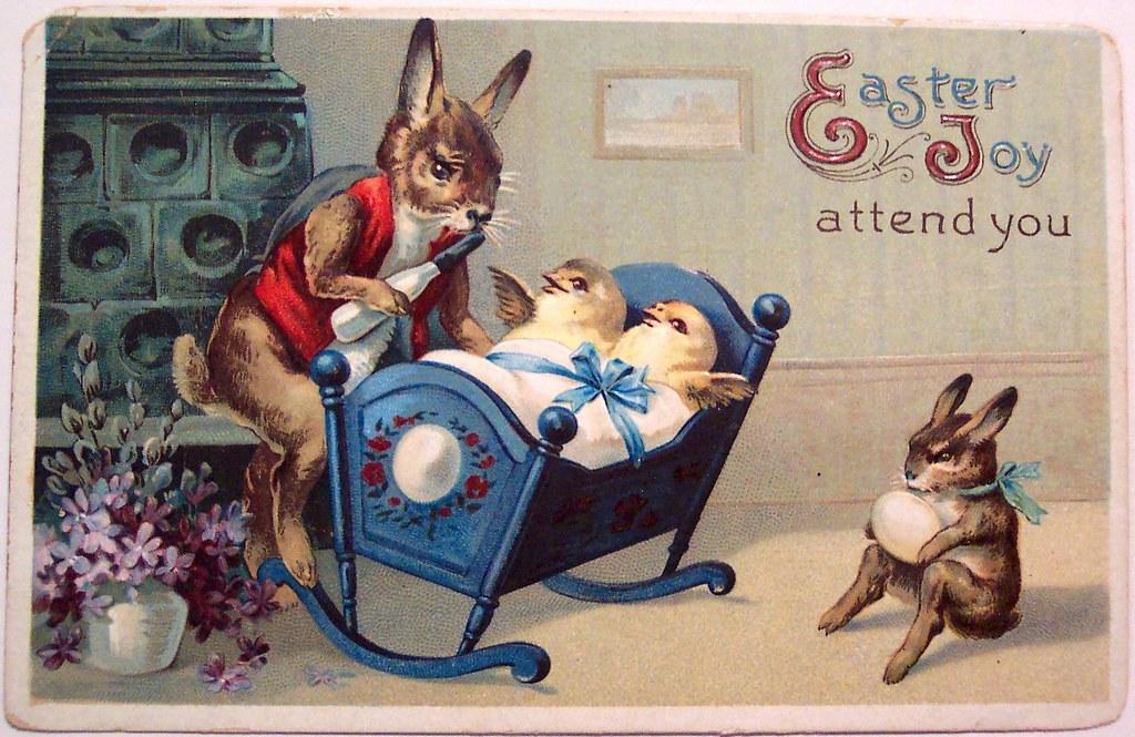 Vintage Easter Postcard Dave Flickr