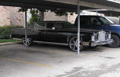 lincoln continental on 22 39 s of course clean car tho seen flickr. Black Bedroom Furniture Sets. Home Design Ideas