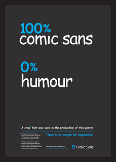 100% Comic Sans, 0% Humour Typographic Poster | by The Logo Smith