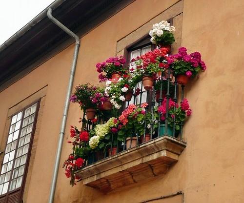Balc n y flores me encantan estos balcones y ventanas for Jardineras para balcones