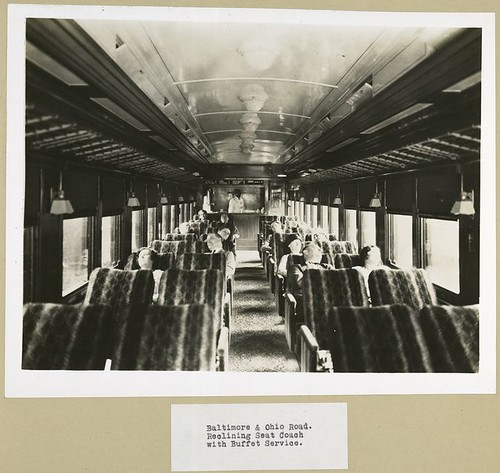 Baltimore & Ohio Road. Reclining Seat Coach with Buffet Serv... | by New York Public Library