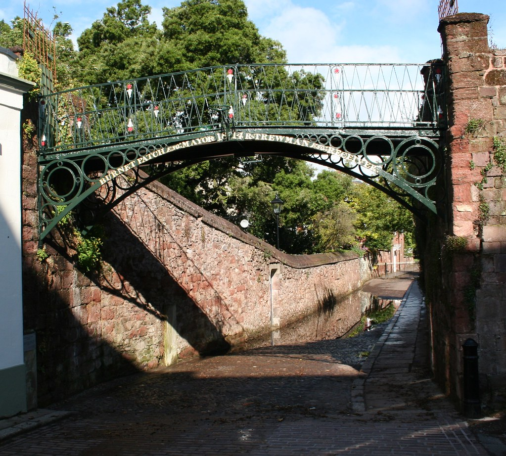Exeter Cathedral Close Burnet Patch Iron Bridge With A F