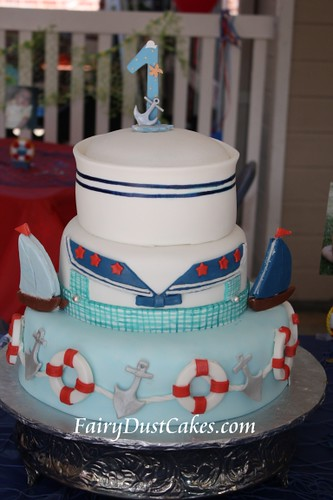 Sailor and Ocean Cake Ideas - Birthday Cake Cake Design and Cookies