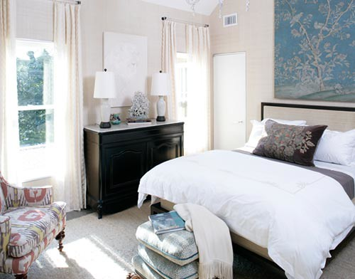 Blue + White + Brown Bedroom: Colors Of Sea + Sand In Beau