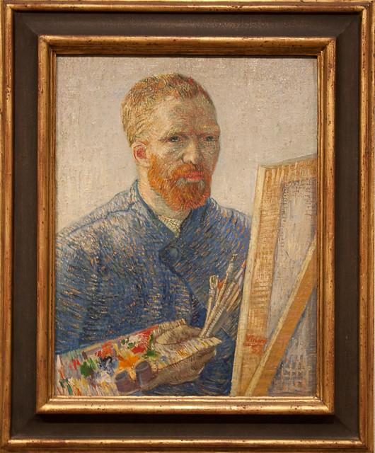 Van Gogh Museum - Self-portrait as an artist, 1888