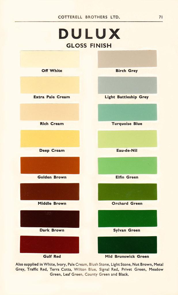 Dulux colours a range of dulux gloss paints from a 1950 co flickr - Dulux exterior paint colours minimalist ...