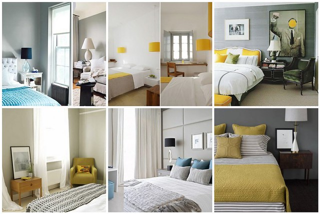 Bedroom Inspiration Gray Yellow Turquoise 1 Grey Bed Flickr