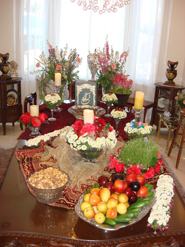 Haft Sin For Persian New Year People Make Their Table
