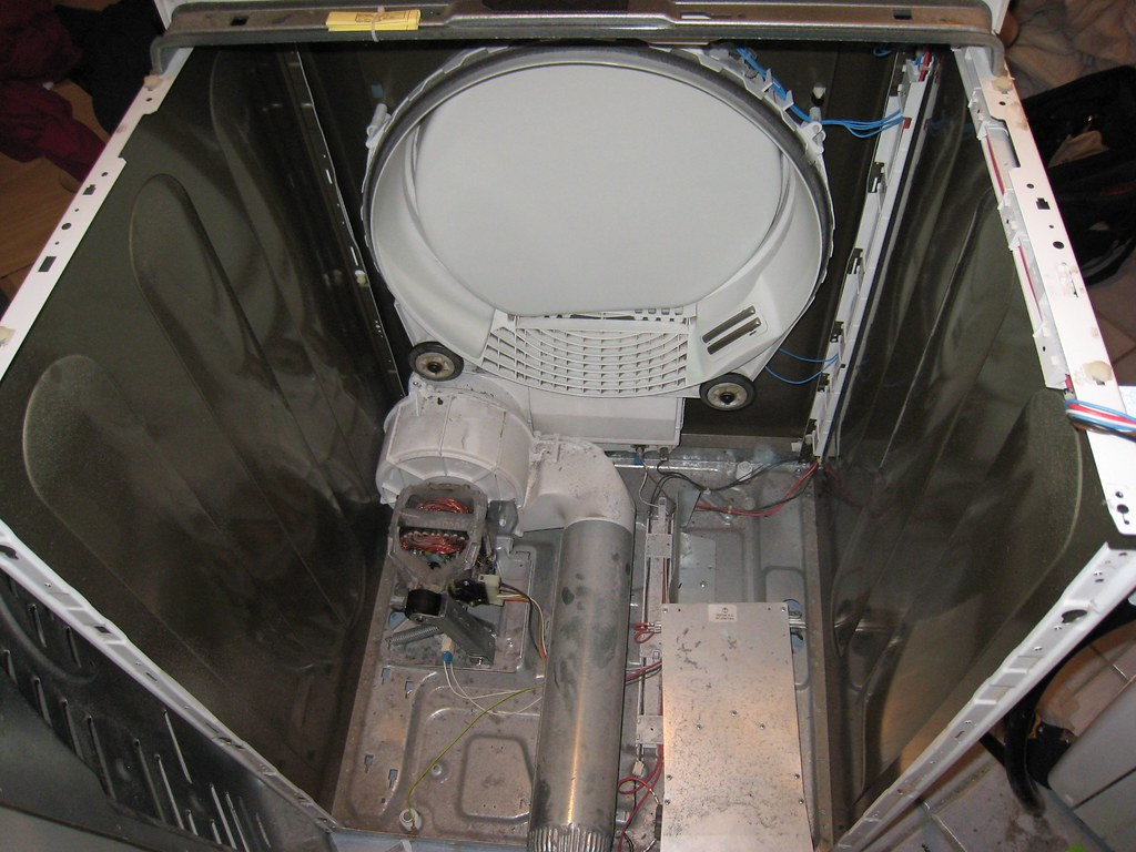 Inside Of A Dryer ~ Inside a bosch dryer without the drum for free repair