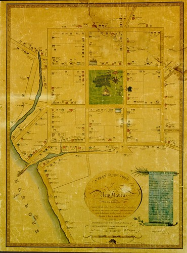 A plan of the town of New Haven with all the buildings in 1748 | by uconnlibrariesmagic