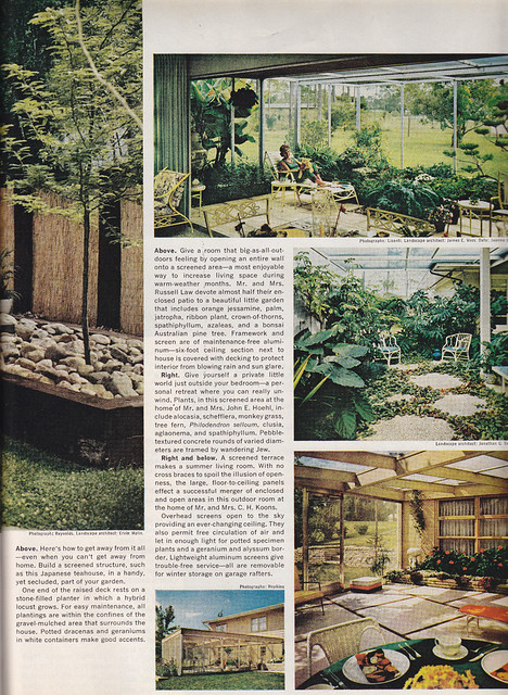 Outdoor Living 1965 From Better Homes And Gardens Aug