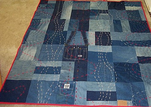 Somebody S Knockin Denim Quilt Made From 8 Pairs Of Old