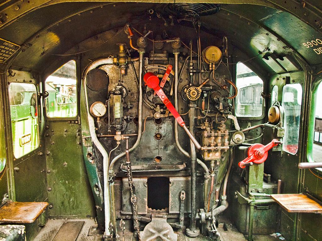 Footplate of the Britsh steam locomotive 5900 Hinderton Ha…   Flickr