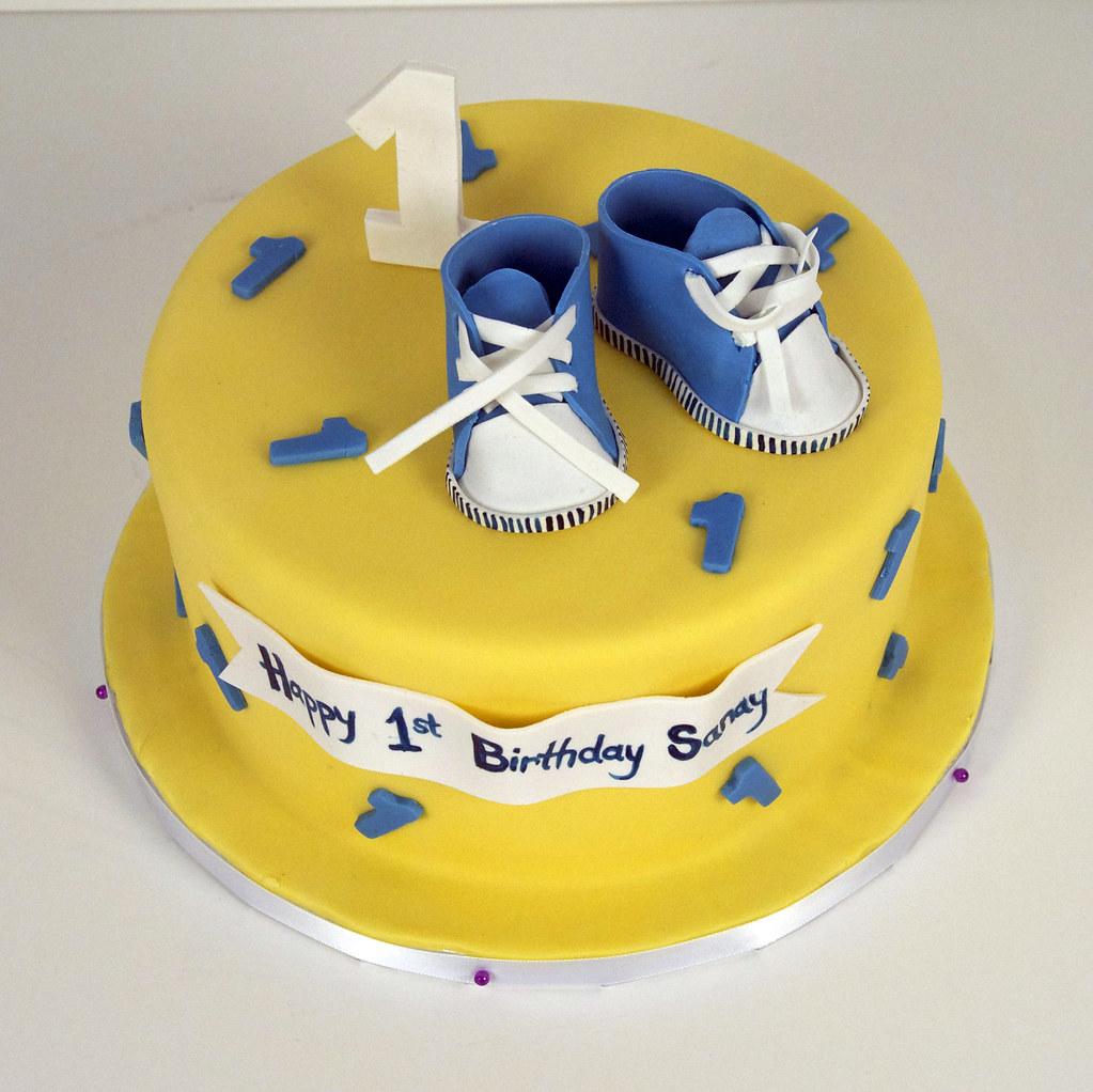 baby boy 1st birthday cake toronto | A yellow 1st birthday ...