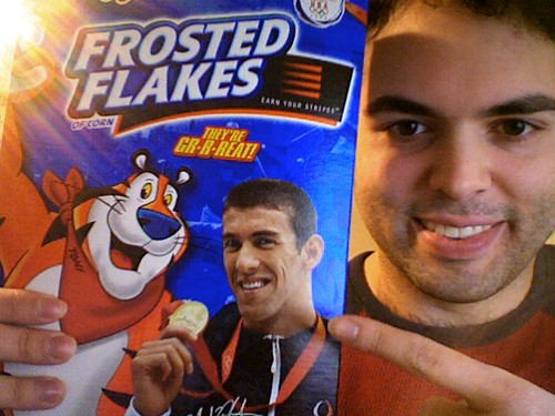 Ultra limited edition Michael Phelps Frosted Flakes | by tmoenk