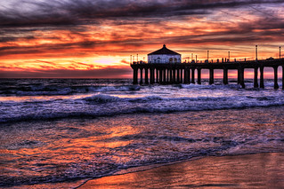Manhattan Beach Pier Sunset | by szeke