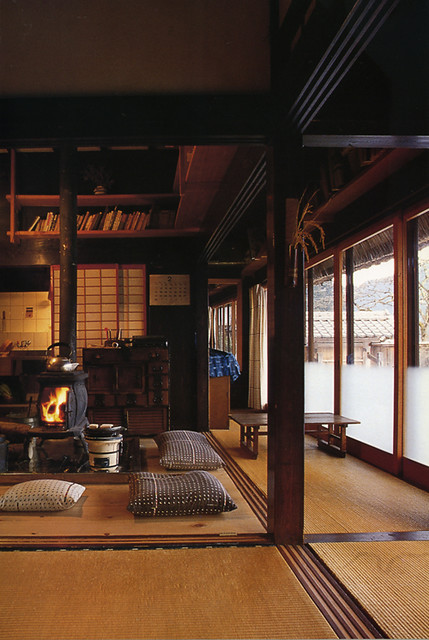 japanese farmhouse interior with wood stove to replace ori flickr. Black Bedroom Furniture Sets. Home Design Ideas