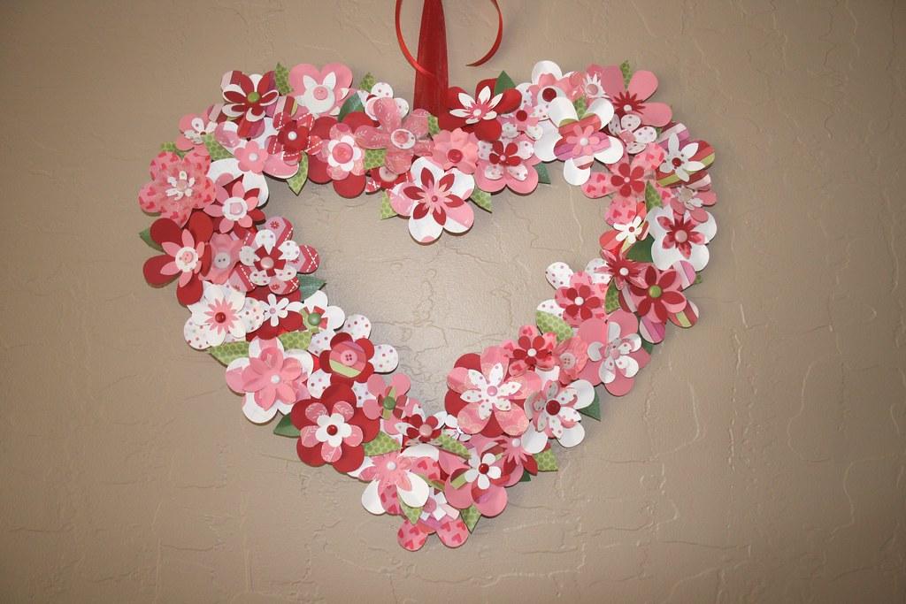 Valentine Paper Flower Wreath The Basic Heart Shape Is