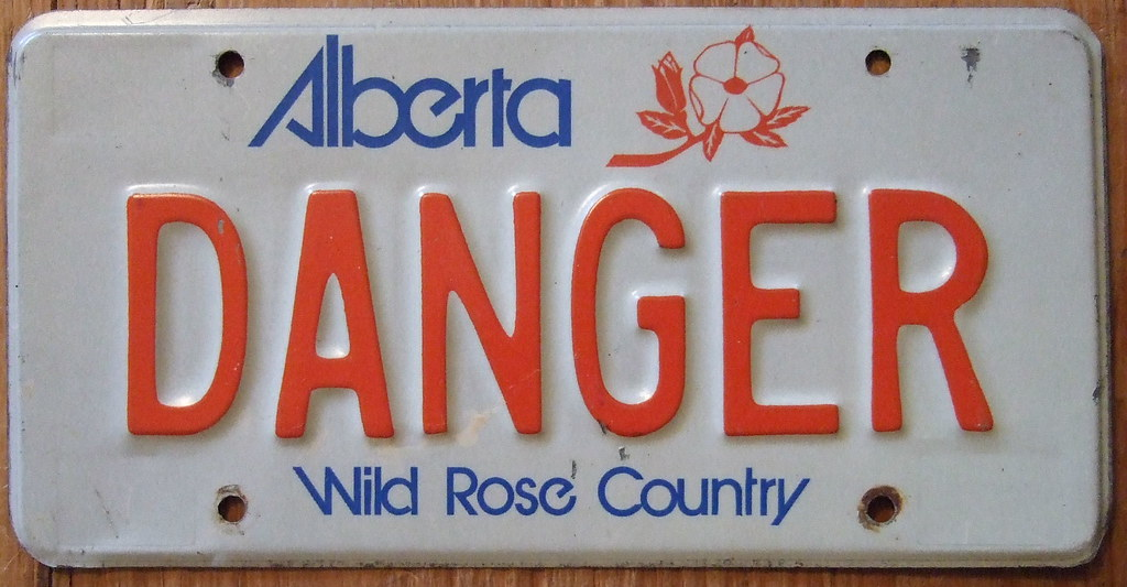 """License Plate Camera >> ALBERTA PERSONALIZED LICENSE PLATE ---DANGER 