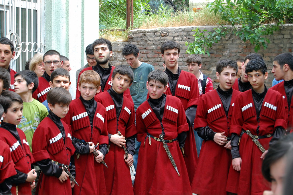 Georgian boys, singers, in the traditional costume | Flickr