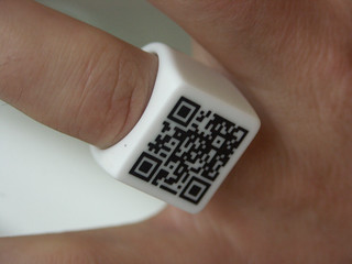 QR Code Ring detail | by Fluid Forms