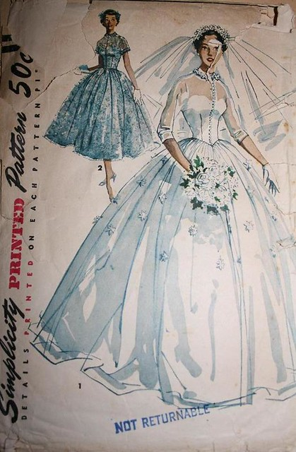 Vintage Sewing Pattern 1950s Big Poufy Wedding Dress Full Flickr
