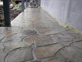 Fieldstone Patio Walkway Westbloomfld Stamped