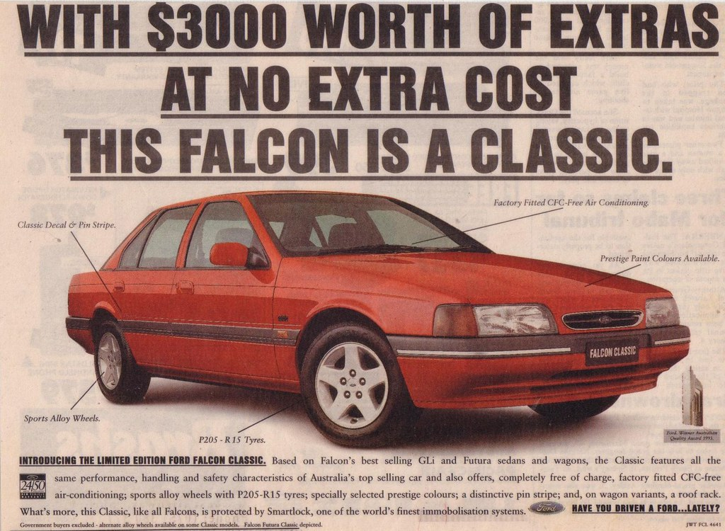 ford ed falcon classic ad limited edition ford ed fal flickr