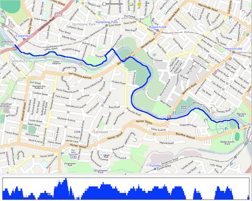 ... Creek Cycleway map   A gps trace of my ride along the …   Flickr: https://www.flickr.com/photos/yewenyi/3494701145/
