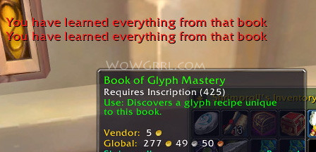 wow how to make glyphs