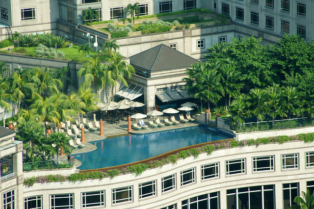 Rooftop swimming pool of the mandarin oriental at klcc ku - Homestay in kuala lumpur with swimming pool ...