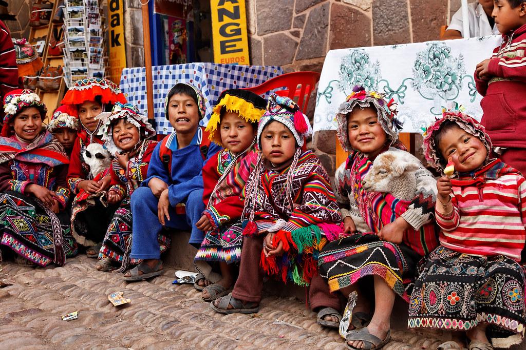 Peruvian Children In Pisac Peru Children In Pisac Peru
