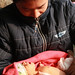 Man holds his newborn baby