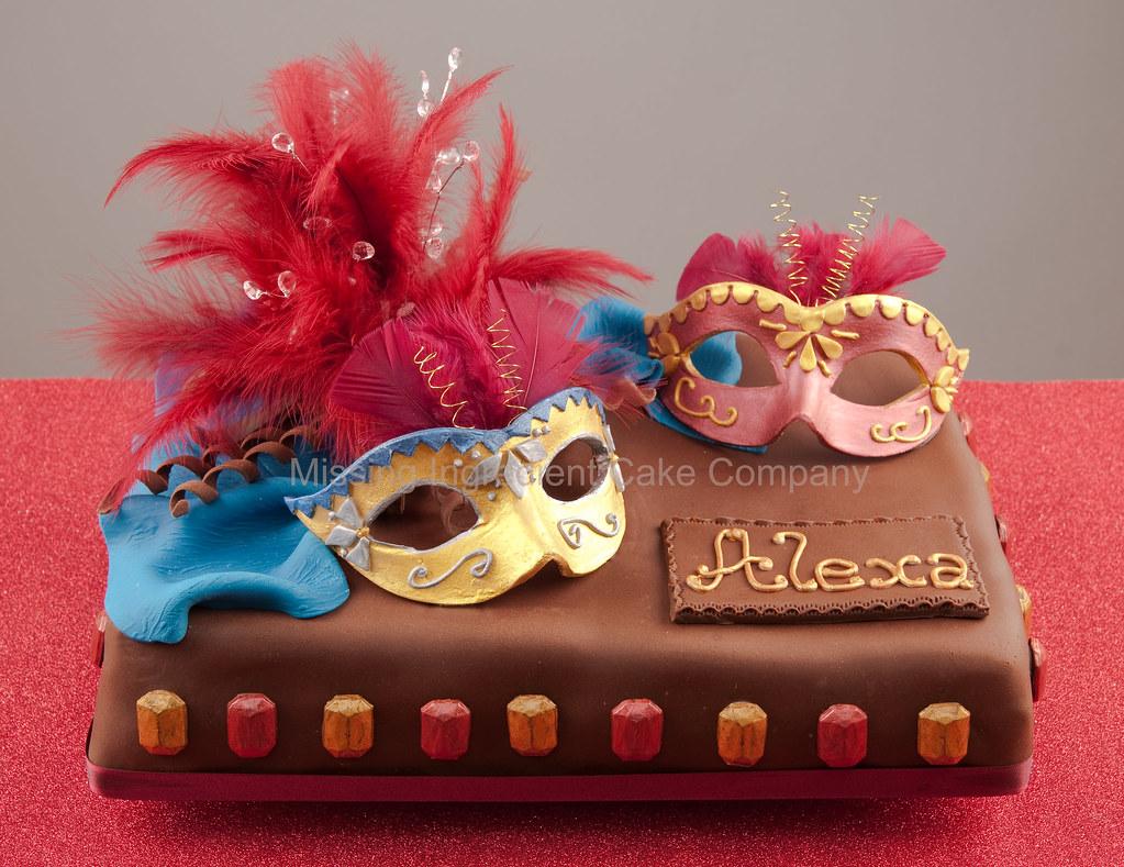 Masquerade Themed Birthday Cakes